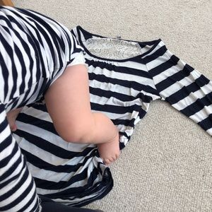 Cute Striped Maternity Top